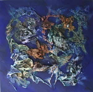 tableau abstrait galerie peinture thème Célestes