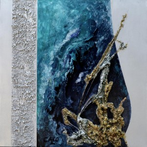 tableau abstrait 20 mille lieux sous les mers