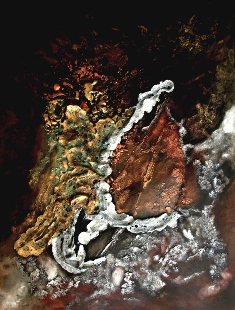 Oeuvre d'art MIRAGE tableau abstrait art tellurique - Galerie-peinture Universum-tellus
