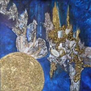 Galerie tableau abstrait art tellurique - Terre Céleste Caelesti Terram