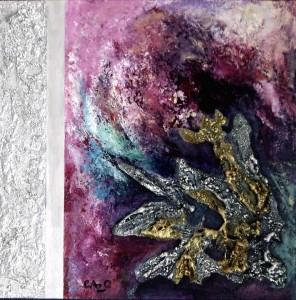 Galerie peinture CAZO artiste peintre abstrait de l'art tellurique - Tableau Tourbillon