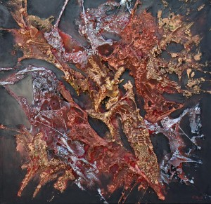 Galerie peinture CAZO artiste peintre de l'art tellurique - Peinture Mineralis I