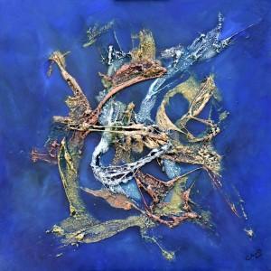 Galerie peinture CAZO artiste peintre abstrait de l'art tellurique - Tableau OVNI