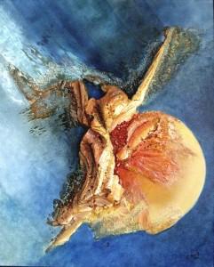 Galerie peinture CAZO artiste peintre abstrait de l'art tellurique - Tableau Ra