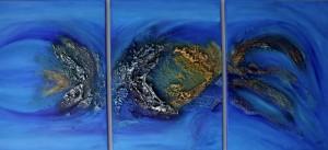 CAZO artiste peintre de l'art tellurique - Peinture Profondeur II