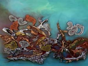 Galerie peinture CAZO artiste peintre abstrait de l'art tellurique - Tableau Tout au fond