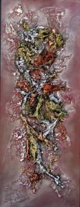 Galerie tableau abstrait art tellurique - Bouquet