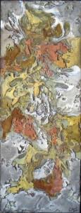 Galerie peinture CAZO artiste peintre abstrait de l'art tellurique - Tableau Incrustation