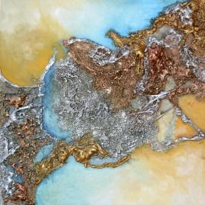 Galerie peinture CAZO artiste peintre abstrait de l'art tellurique - Tableau Perdue