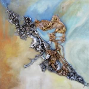 Galerie peinture CAZO artiste peintre abstrait de l'art tellurique - Tableau Vole vole