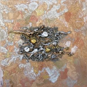 Oeuvre d'art DESERT tableau abstrait art tellurique - Galerie-peinture Universum-tellus