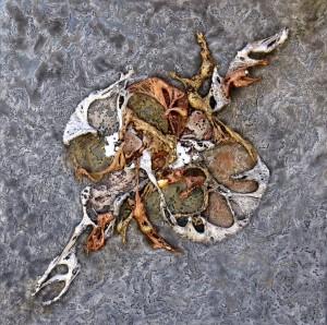 Oeuvre d'art L'AUTRE PLANETE tableau abstrait art tellurique - Galerie-peinture Universum-tellus