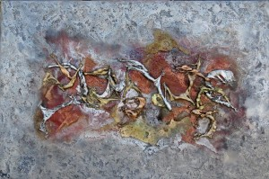 Oeuvre d'art LA-BAS tableau abstrait art tellurique - Galerie-peinture Universum-tellus