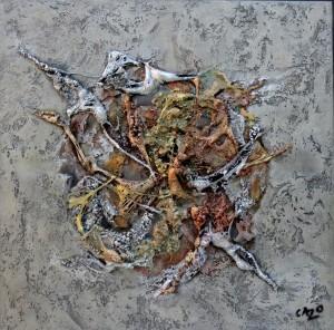Oeuvre d'art LOINTAIN UNIVERS tableau abstrait art tellurique - Galerie-peinture Universum-tellus