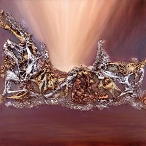 Oeuvre d'art PLANETE INEXPLOREE tableau abstrait art tellurique - Galerie-peinture Universum-tellus