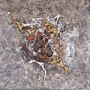 Oeuvre d'art TOURMENTE tableau abstrait art tellurique - Galerie-peinture Universum-tellus