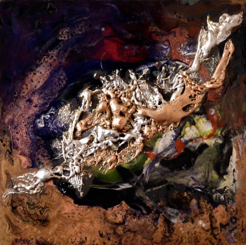 Galerie tableau abstrait art tellurique - Eclat
