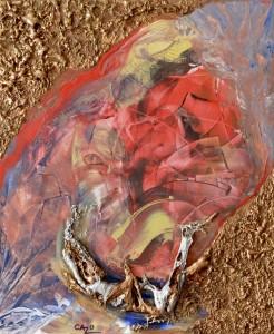 Galerie tableau abstrait art tellurique - Envolée