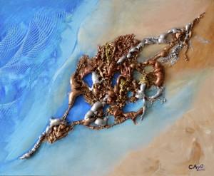 Galerie tableau abstrait art tellurique - Filante
