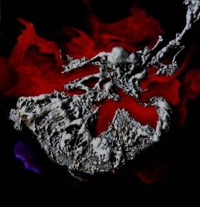 Galerie tableau abstrait art tellurique - Flamenco