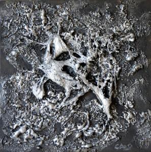 Galerie tableau abstrait art tellurique - Froid