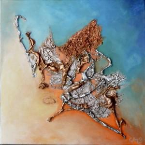 Galerie tableau abstrait art tellurique - Songe