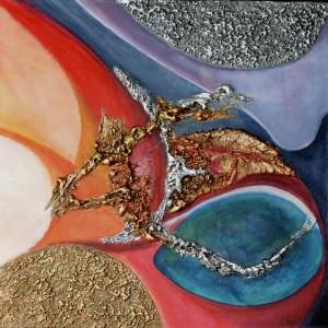 Galerie tableau abstrait art tellurique - Union astrale
